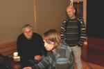 Dag, Johan og Jan lytter