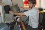 Johan og nye Genelec monitorer og en Mackie Control