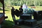 Jan og Anders sjauer på Skuterud Gård 2010
