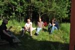 Morten, Sigmund, Jan, Anders på Skuterud Gård 2010