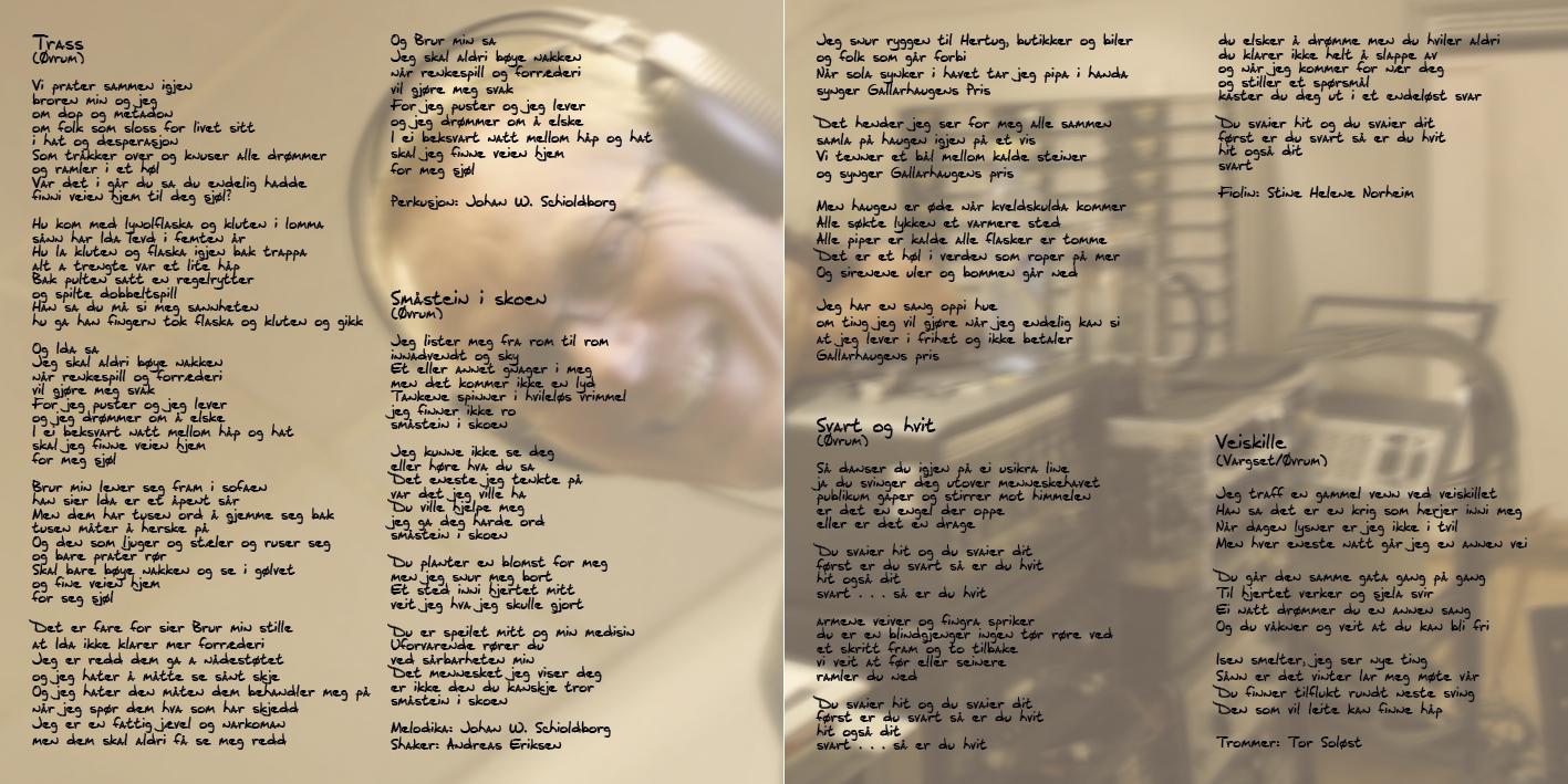 Side 6 og 3 i cd-heftet
