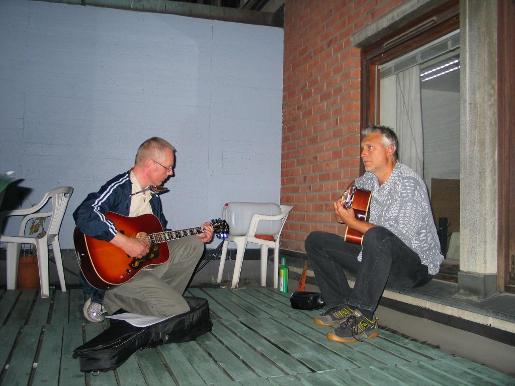 Sigmund og Dag varmer opp august 2005