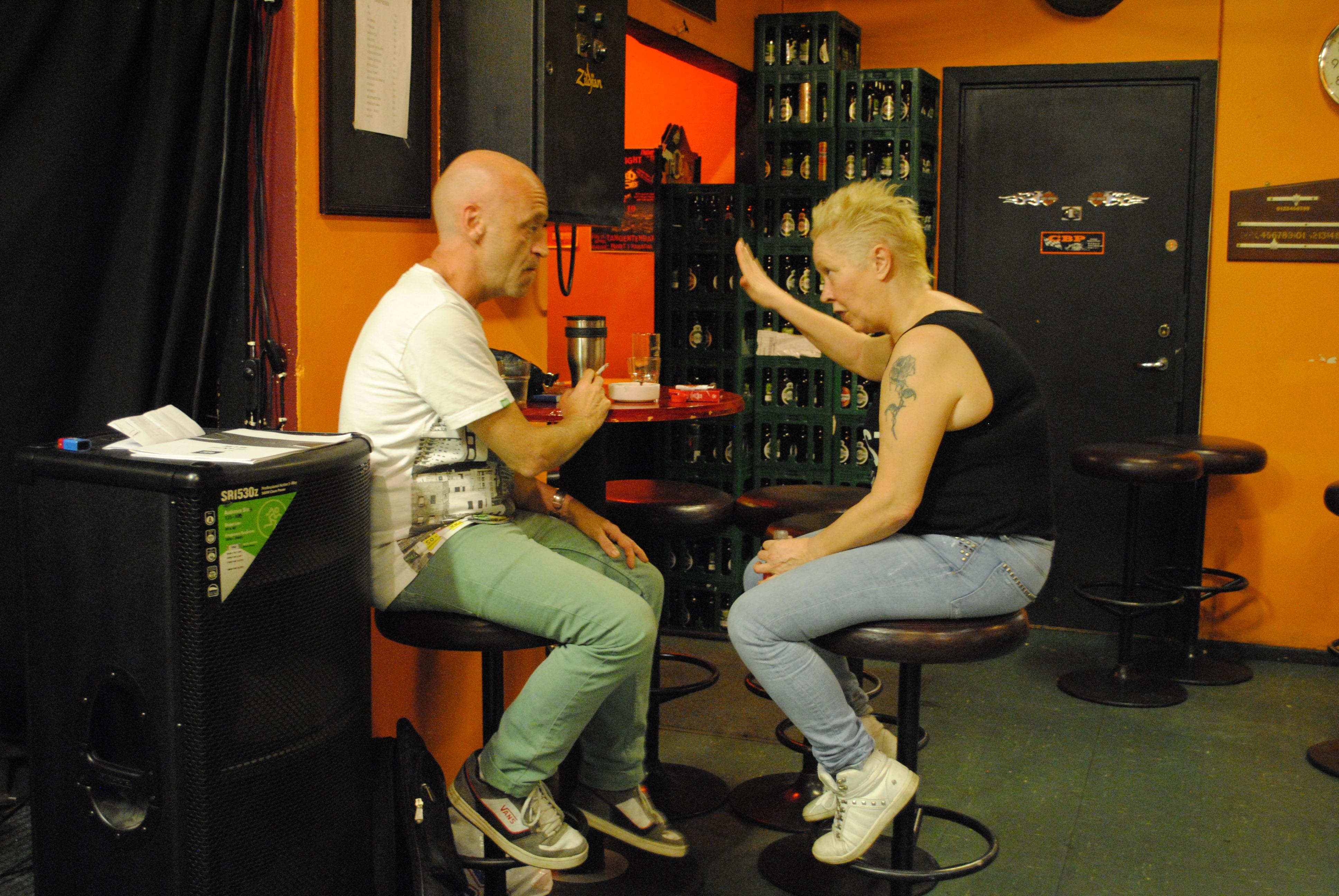 Jan og Monica i øvingslokalet