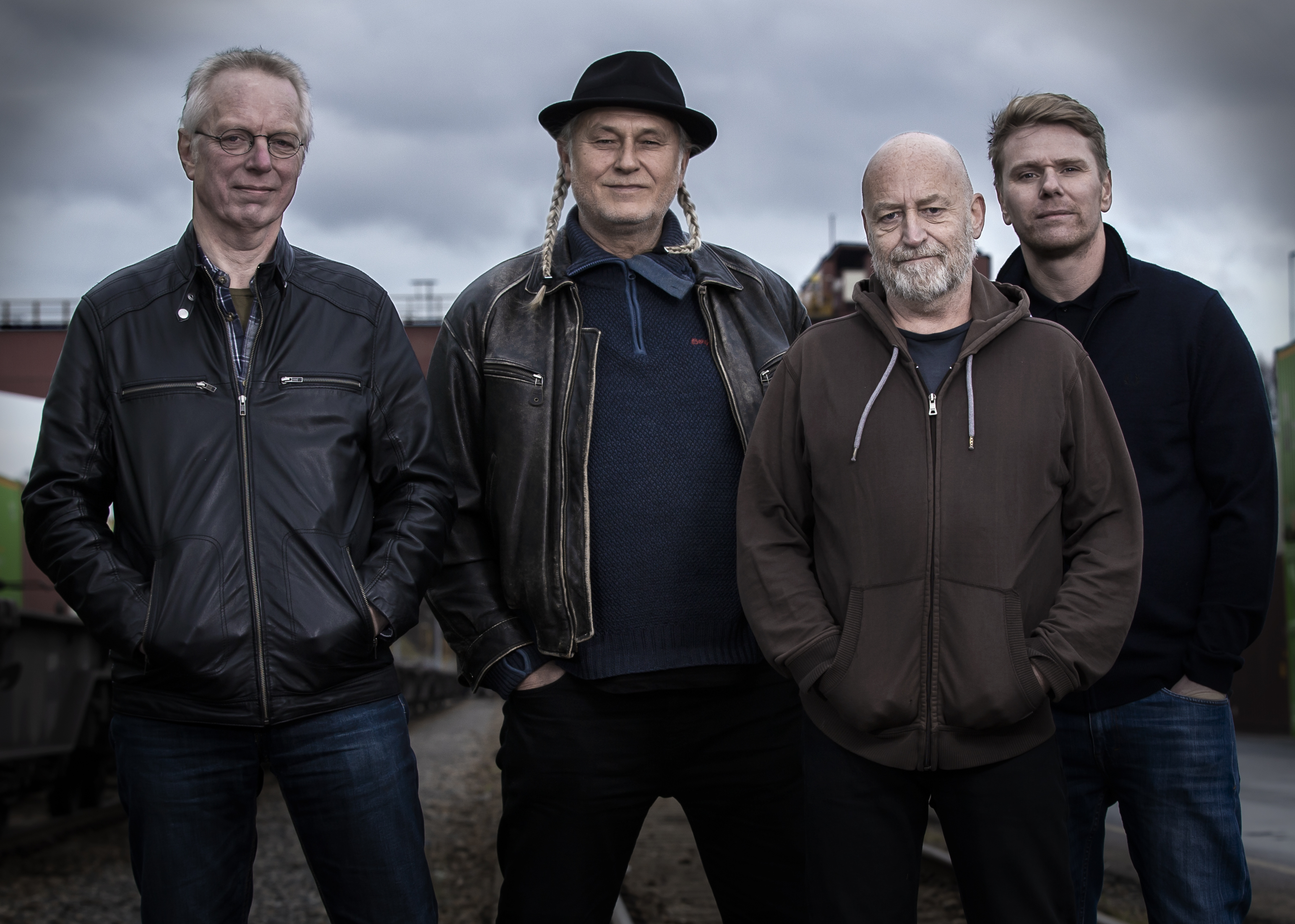 Sigmund, Dag, Jan og Vidar i Keep Coming Back Band
